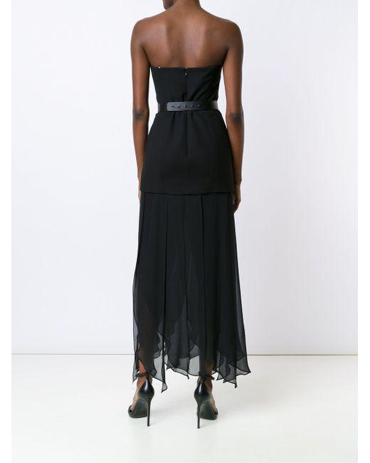 Strapless Draped Dress Halston Heritage                                                                                                              чёрный цвет