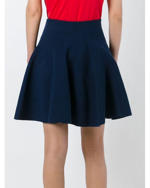Pleated Mini Skirt Kenzo                                                                                                              синий цвет