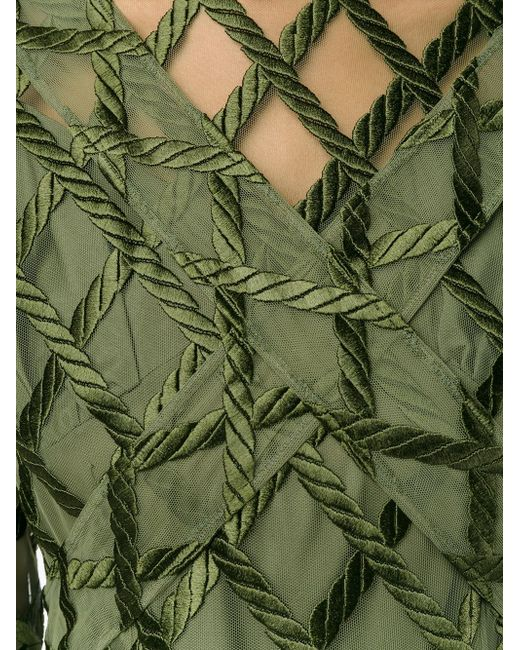 Rope Embroidered Long Sleeve Dress Simone Rocha                                                                                                              зелёный цвет
