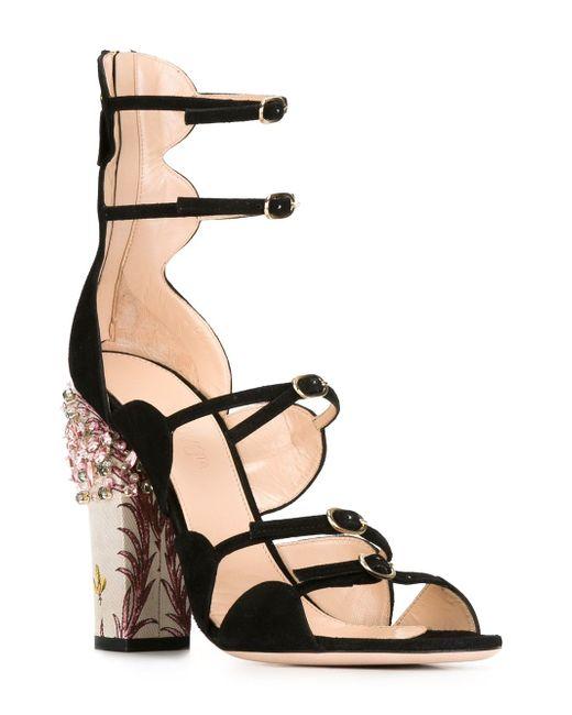Embellished-Heel Sandals Giambattista Valli                                                                                                              чёрный цвет