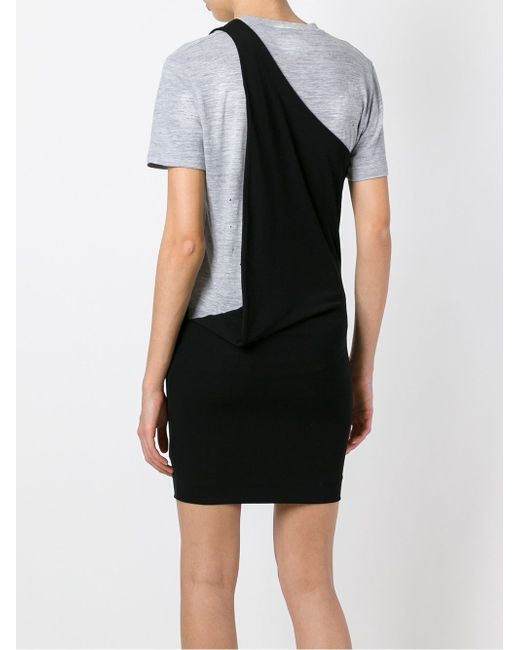 Платье-Футболка Dsquared2                                                                                                              чёрный цвет