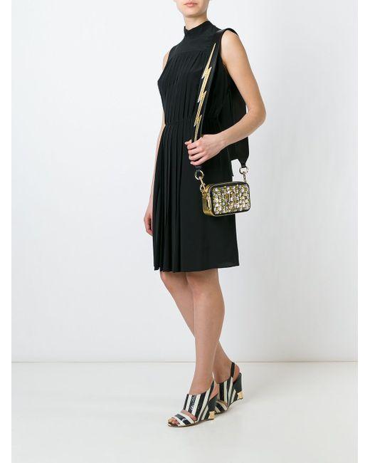 Small Snapshot Sequins Checker Crossbody Bag Marc Jacobs                                                                                                              чёрный цвет