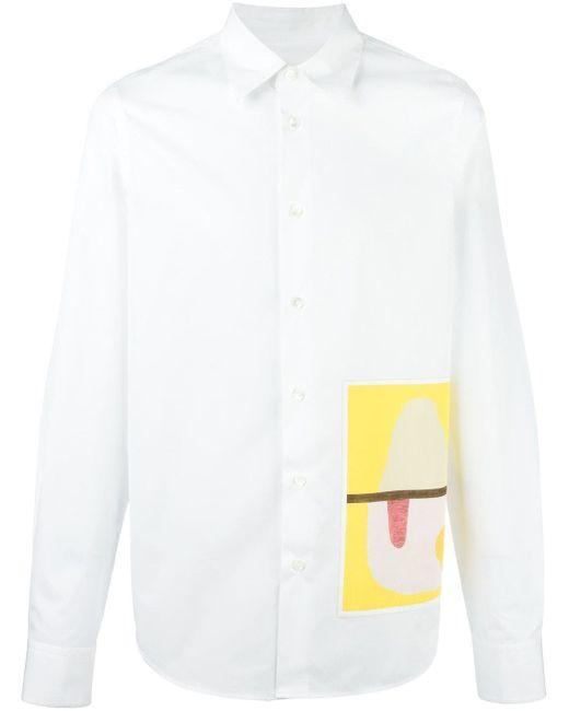 Рубашка С Принтом Marni                                                                                                              белый цвет
