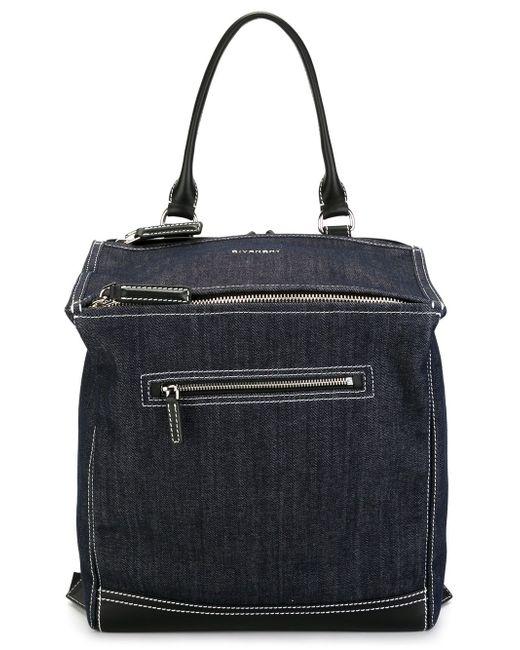 Джинсовый Рюкзак Pandora Givenchy                                                                                                              синий цвет