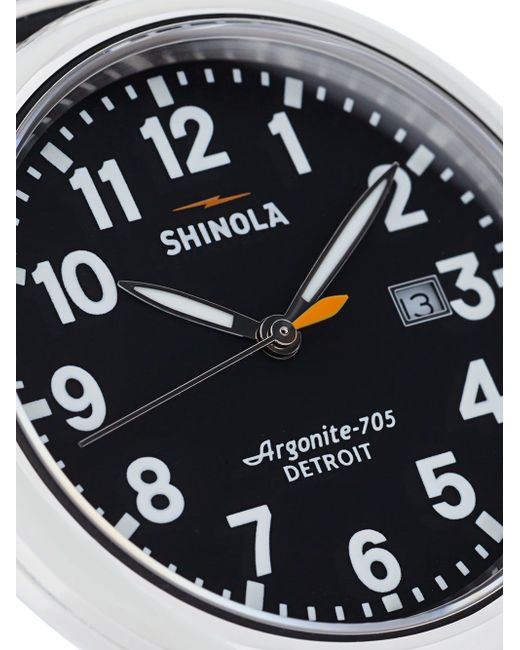 Runwell 41mm Watch SHINOLA                                                                                                              серебристый цвет