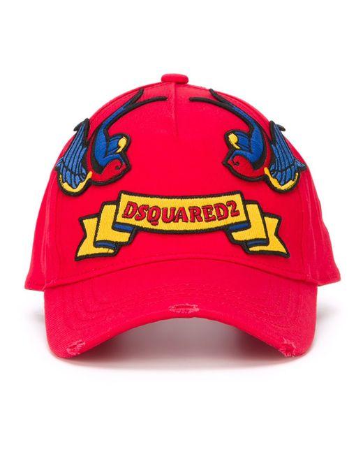 Embroidered Patch Cap Dsquared2                                                                                                              красный цвет