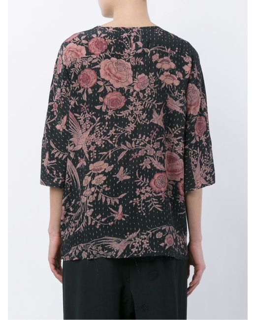 Isabel Silk Top With Zip Detail BY WALID                                                                                                              чёрный цвет