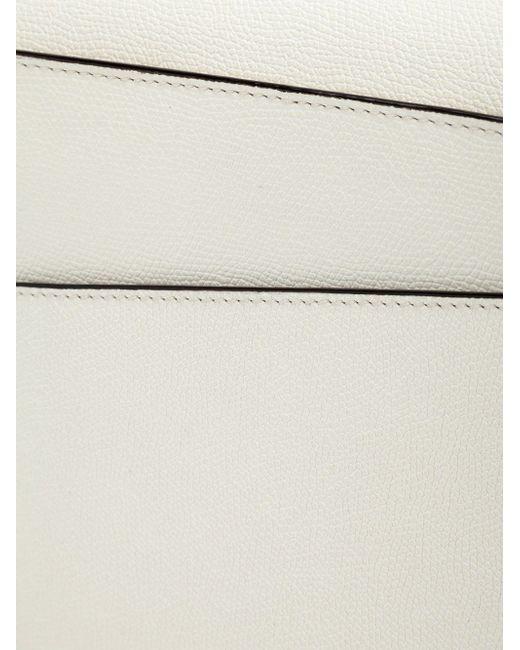 Asymmetric Flap Cross Body Bag Valextra                                                                                                              белый цвет