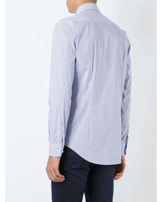 Рубашка В Полоску Etro                                                                                                              синий цвет