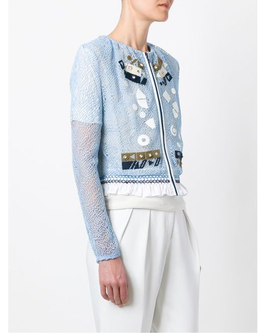 Solar Embroidered Jacket Peter Pilotto                                                                                                              синий цвет