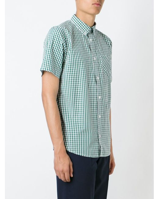 Checked Shortsleeved Shirt Carhartt                                                                                                              зелёный цвет