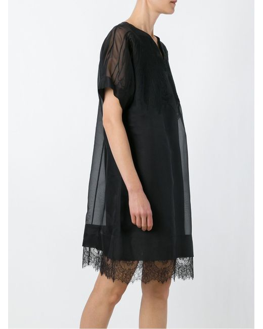 Double Layer Lace Dress No21                                                                                                              чёрный цвет