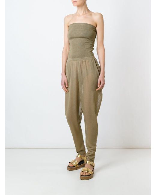 Strapless Jumpsuit Antonio Marras                                                                                                              серебристый цвет