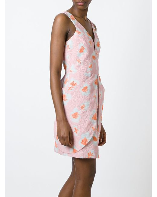 Flower Embroidered Dress Emporio Armani                                                                                                              розовый цвет