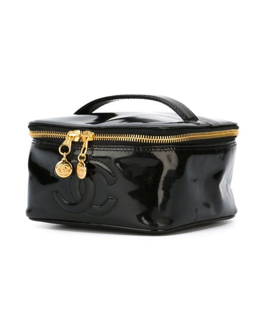 Чемоданчик Для Косметики С Логотипом Cc Chanel Vintage                                                                                                              чёрный цвет