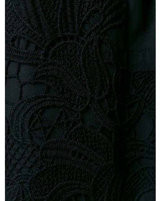 Crochet Detail Mini Dress P.A.R.O.S.H.                                                                                                              синий цвет