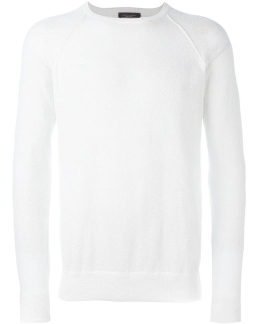 Raglan Sweater Roberto Collina                                                                                                              белый цвет
