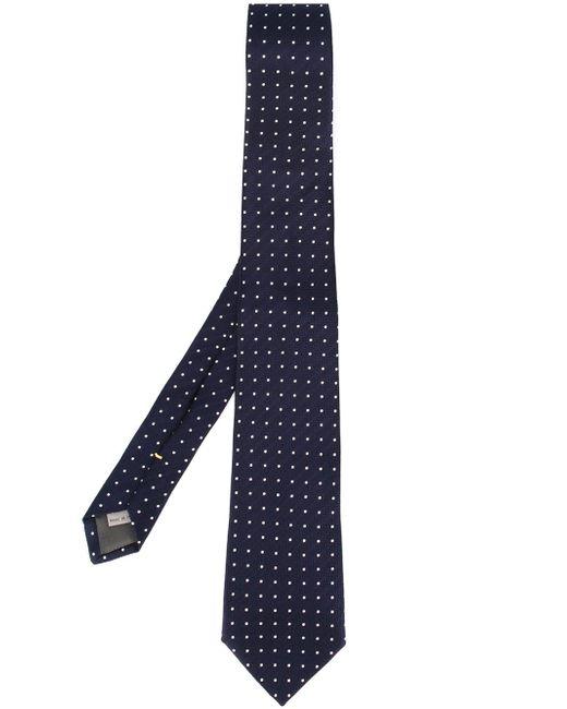Embroidered Polka Dot Tie Canali                                                                                                              синий цвет