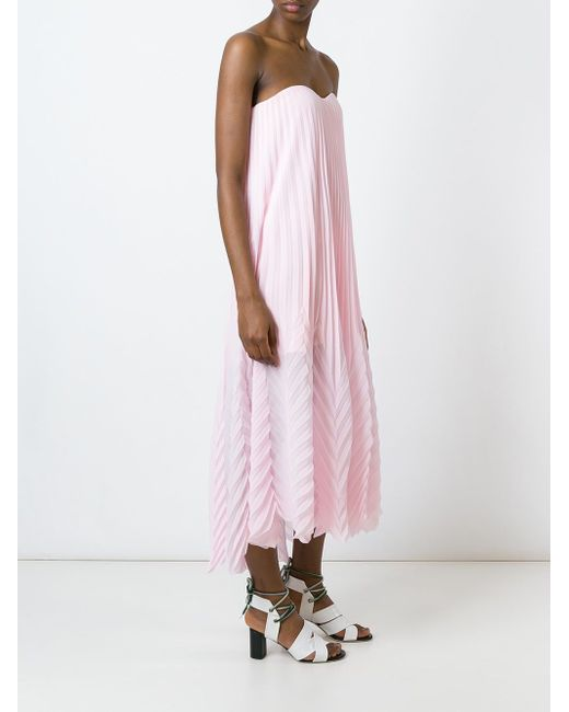 Платье Миди Без Бретелек MSGM                                                                                                              розовый цвет
