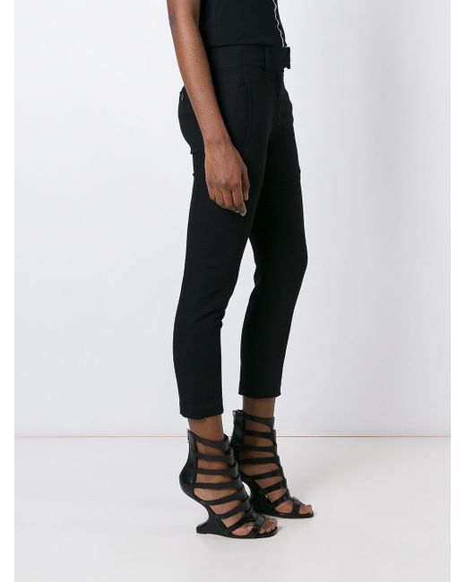 Cropped Skinny Trousers Ann Demeulemeester                                                                                                              чёрный цвет
