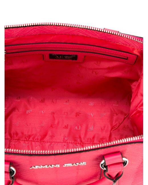 Large Top Zip Crossbody Bag ARMANI JEANS                                                                                                              розовый цвет