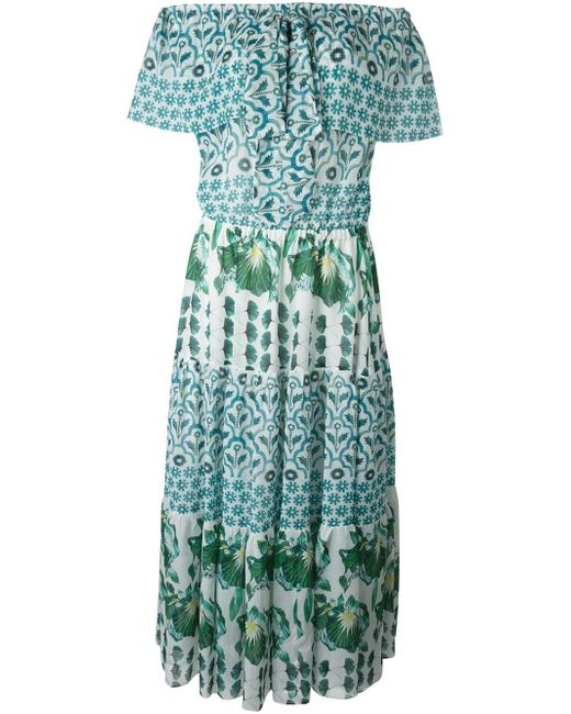 Honor Florrie Midi Dress Temperley London                                                                                                              зелёный цвет