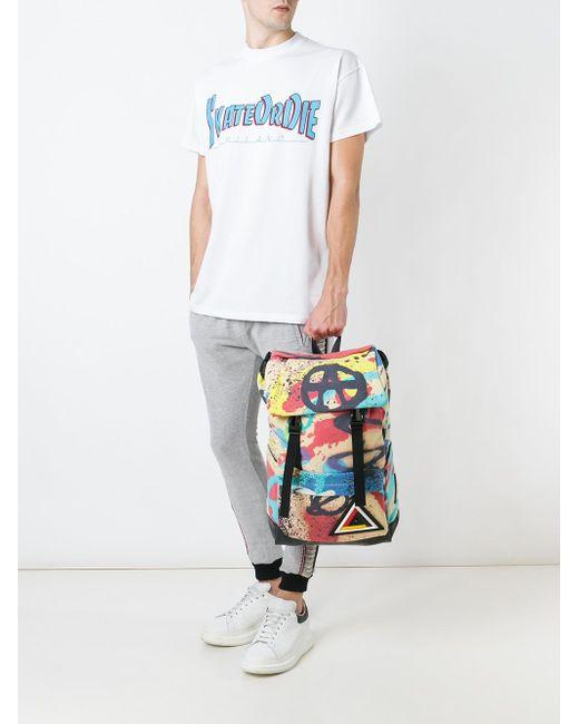 Graffiti Print Backpack Ktz                                                                                                              чёрный цвет