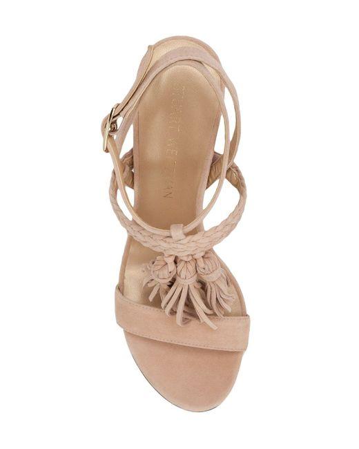 Tasslemania Heeled Sandals Stuart Weitzman                                                                                                              Nude & Neutrals цвет