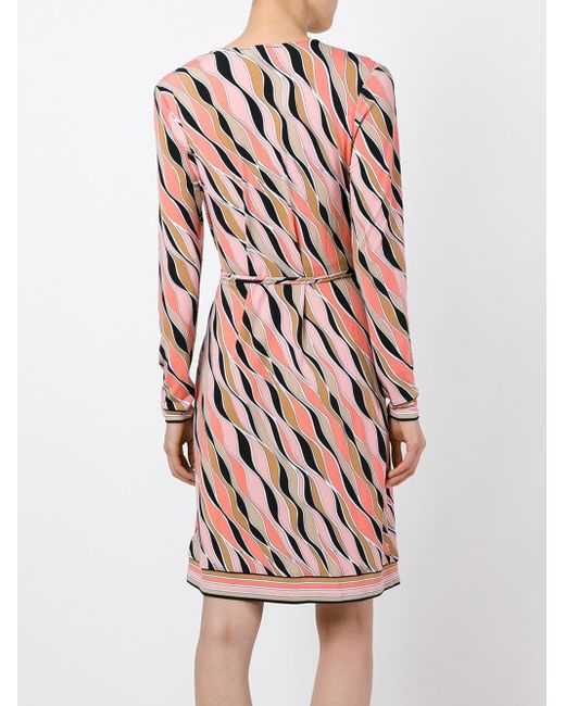 Printed Wrap Dress Michael Michael Kors                                                                                                              розовый цвет