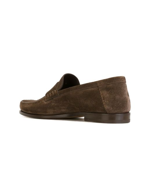 Penny Loafers Santoni                                                                                                              коричневый цвет