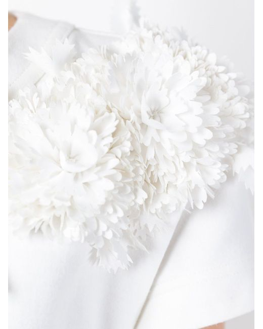 Flower Appliqué Detail Dress Roberto Capucci                                                                                                              белый цвет