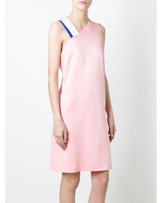 Платье С Перекрещенными Лямками Сзади MSGM                                                                                                              розовый цвет