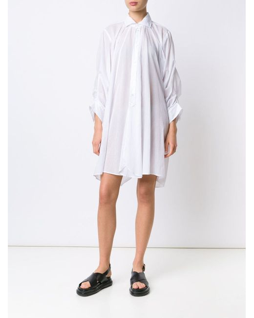 Oversized Shirt Dress JUNYA WATANABE COMME DES GARCONS                                                                                                              белый цвет