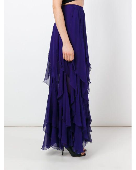 Ruffled Long Skirt Plein Sud                                                                                                              синий цвет
