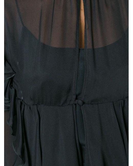 Блузка С Оборками Francesco Scognamiglio                                                                                                              чёрный цвет