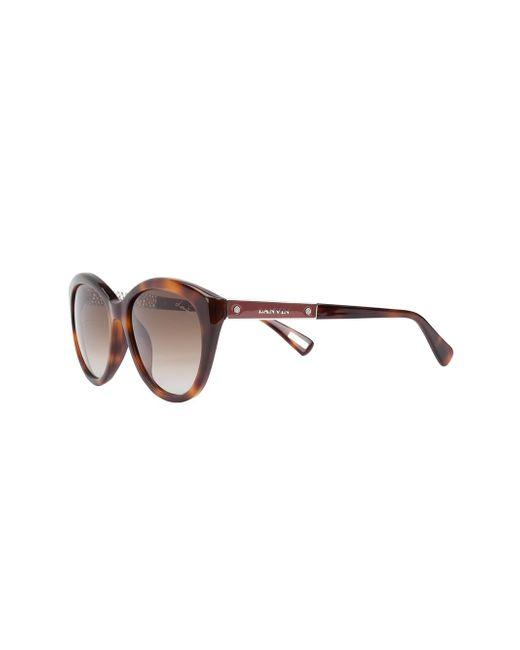 Havana Tortoiseshell Sunglasses Lanvin                                                                                                              коричневый цвет