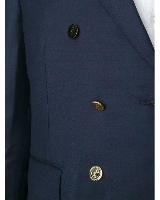 Двубортный Блейзер Thom Browne                                                                                                              синий цвет