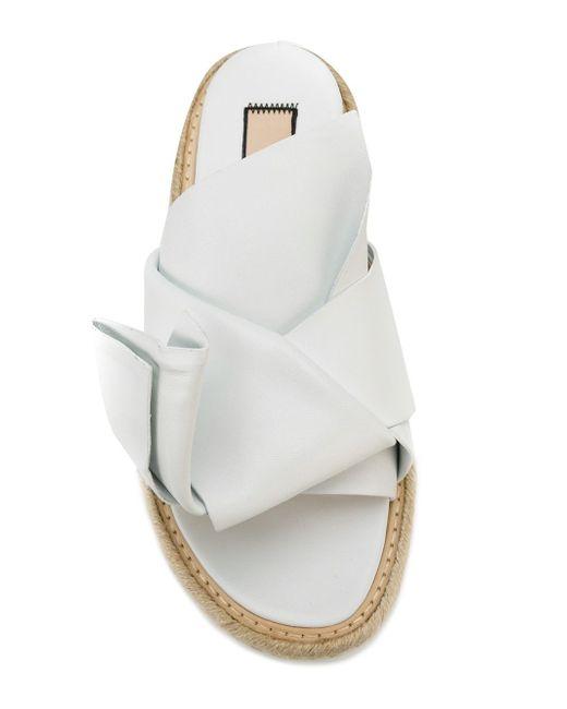 Сандалии С Бантом No21                                                                                                              белый цвет