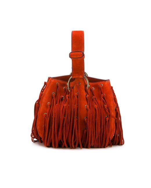 Fringed Handbag Roberto Cavalli                                                                                                              красный цвет