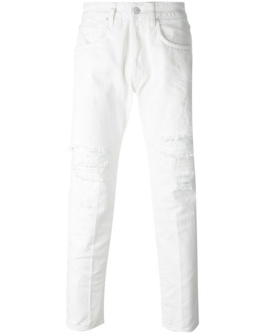 Distressed Slim Fit Jeans +people                                                                                                              Nude & Neutrals цвет