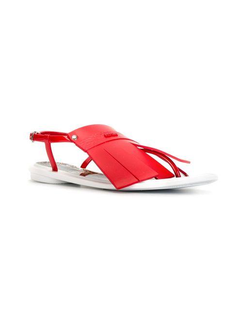Flying Tiger Fringed Sandals Kenzo                                                                                                              красный цвет