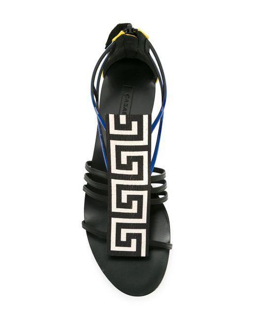 Geometric-Pattern Sandals Casadei                                                                                                              чёрный цвет