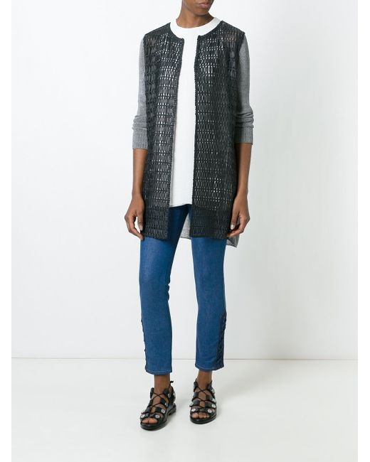 Perforated Long Jacket Drome                                                                                                              чёрный цвет