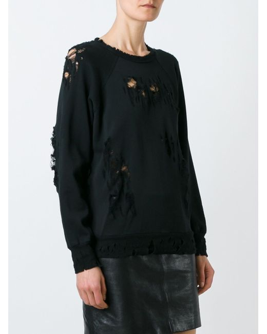 Destroyed Sweater UNRAVEL                                                                                                              чёрный цвет