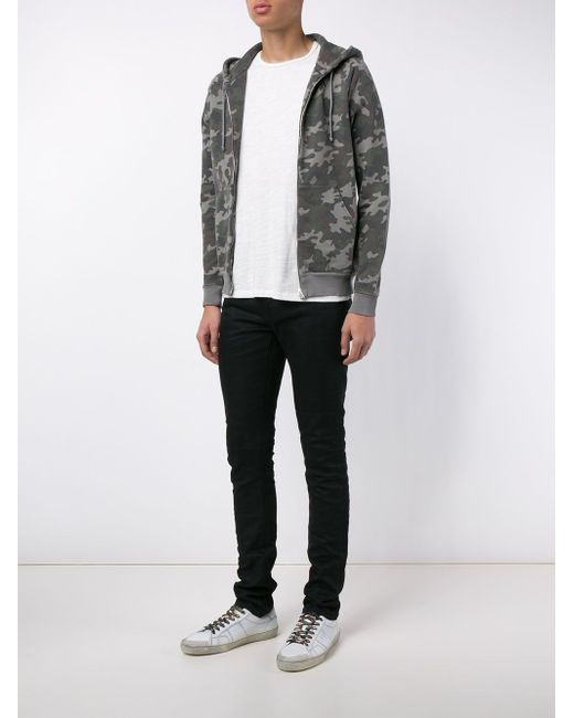 Camouflage Zip-Up Hoodie Saint Laurent                                                                                                              чёрный цвет