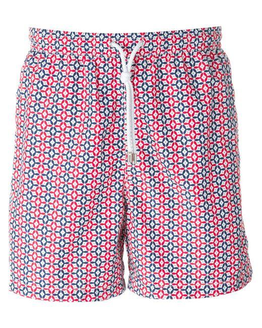 Tile Print Swim Shorts Kiton                                                                                                              красный цвет