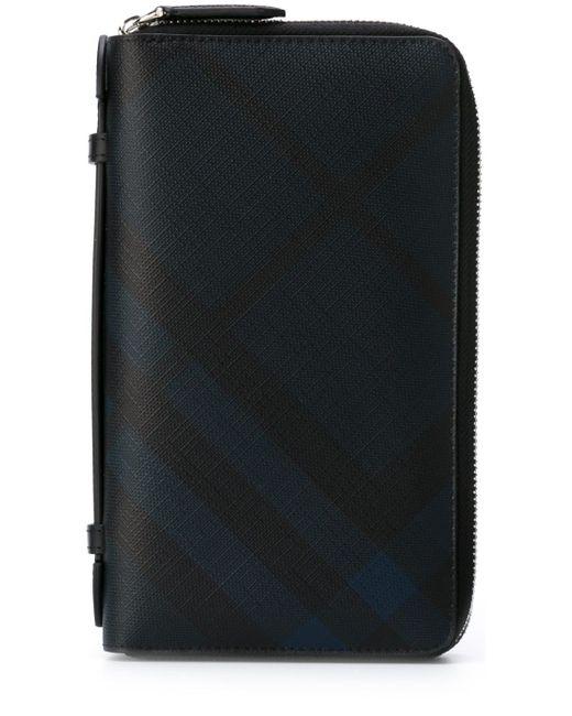 Checked Wallet Burberry                                                                                                              синий цвет