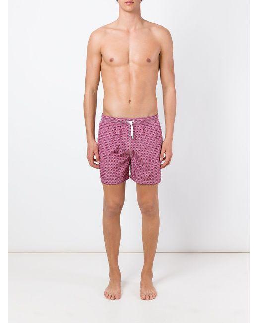 Плавательные Шорты С Геометрическим Узором Kiton                                                                                                              розовый цвет