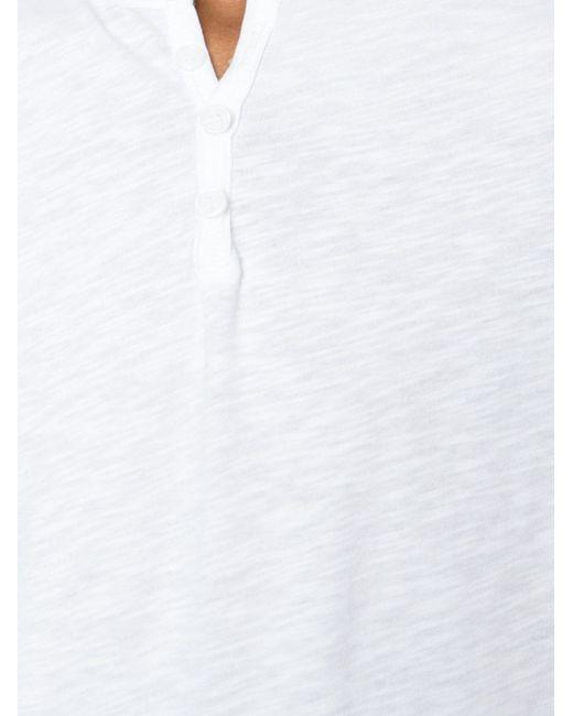 Футболка С Вырезом На Пуговицах MAJESTIC FILATURES                                                                                                              белый цвет