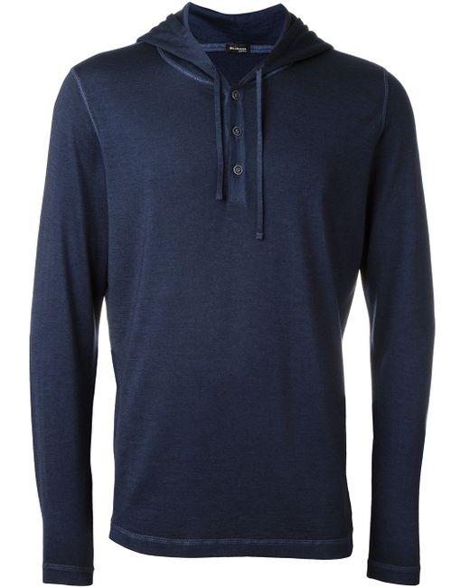 Buttoned Hoodie Kiton                                                                                                              синий цвет
